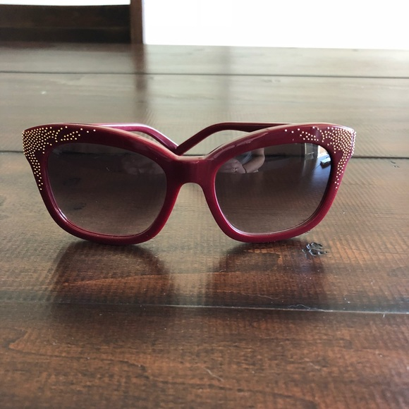 a884d8869fd Chloe Accessories - Authentic Chloe Burgundy and gold sunglasses